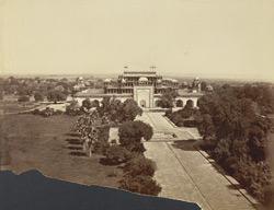 [Akbar's tomb at Sikandra, viewed from the top of the gateway.]